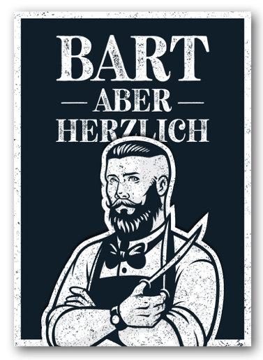 Grusskarte Bart