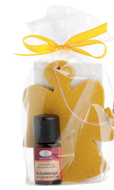 Geschenkset Filzanhänger Engel mit Duftmischung Schutzengel 5ml