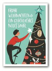 Frohe Weihnachten Baum - Nukaart