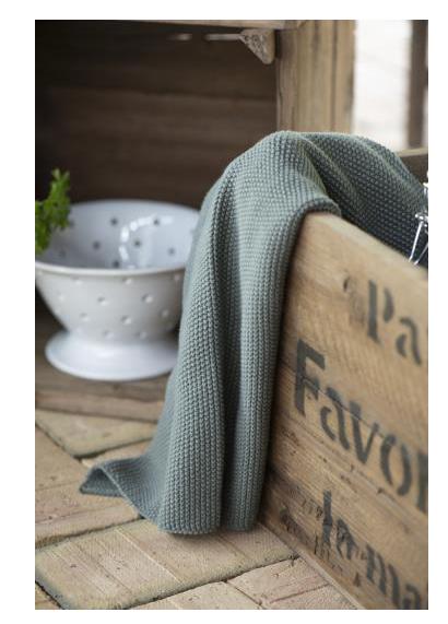 Ib Laursen Handtuch Mynte moosgrün gestrickt