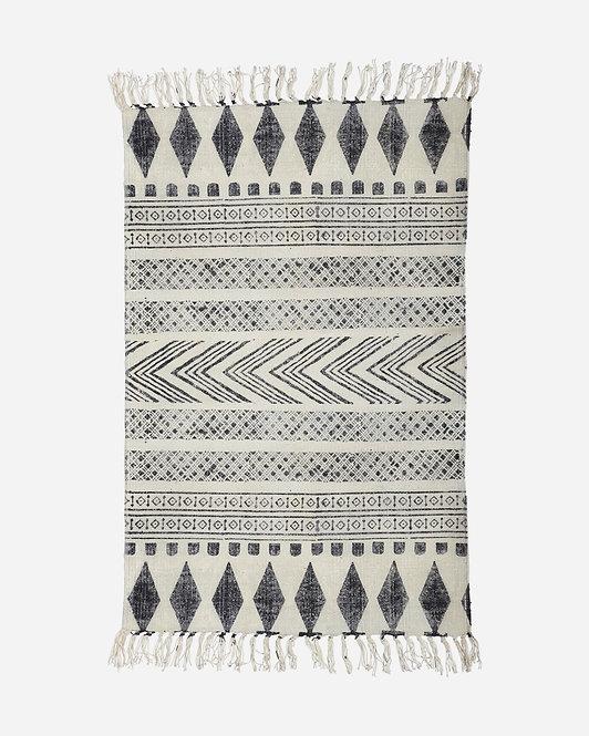Teppich, Block, Grau schwarz