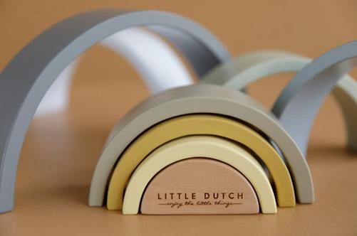 Little Dutch Holz Regenbogen blau