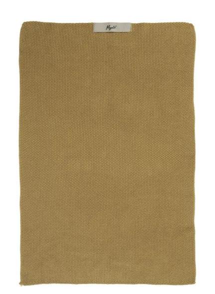 """Ib Laursen Handtuch  """"Mustard"""" gestrickt Mynte"""