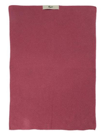 Ib Laursen Handtuch Mynte Blackberry Parfait gestrickt
