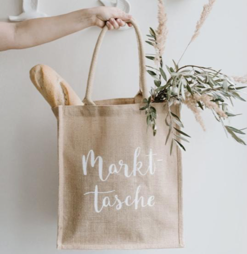 """Jutetasche """"Markttasche"""" Eulenschnitt"""