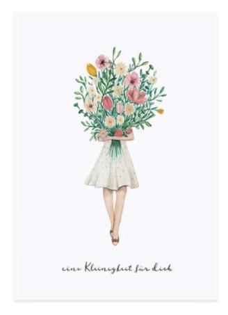 Postkarte Blumenmädchen von Eulenschnitt