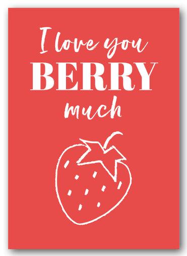 Grusskarte Berry much - Nukaart