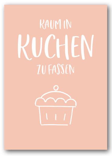 Grusskarte Kuchen zu Fassen - Nukaart