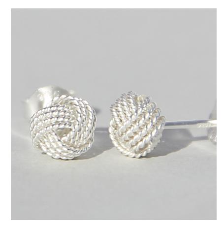 Silberohrstecker | Knoten mini