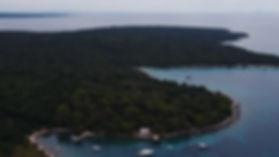 Still Drone shot Silba, Croatia, July 2017  