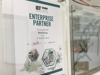 Kent Group is now an official Enterprise Partner with the IET