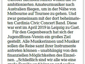 Die Leipziger Volkszeitung berichtet über unsere Crowdfunding-Aktion