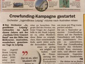 Auch die Leipziger Rundschau berichtet über unsere Crowdfunding-Aktion