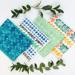 Hand dyed/printed towels