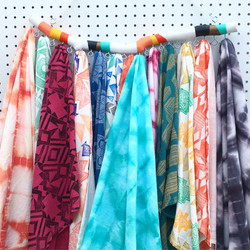 Hand printed/dyed towels