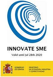i+d+i / dsaf dinámicas de seguridad, Pyme Innovadora. Válido hasta el 28 de julio de 2020. Gobierno de España.