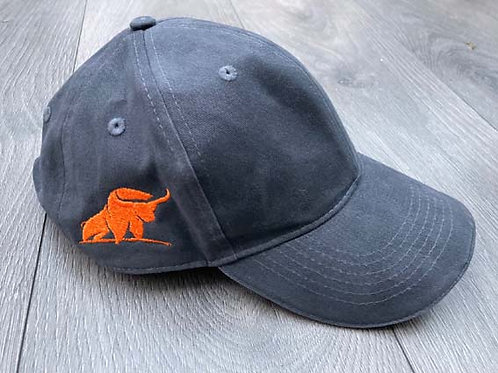 ox overland grey baseball cap with logo