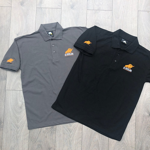 ox overland polo shirt with logo