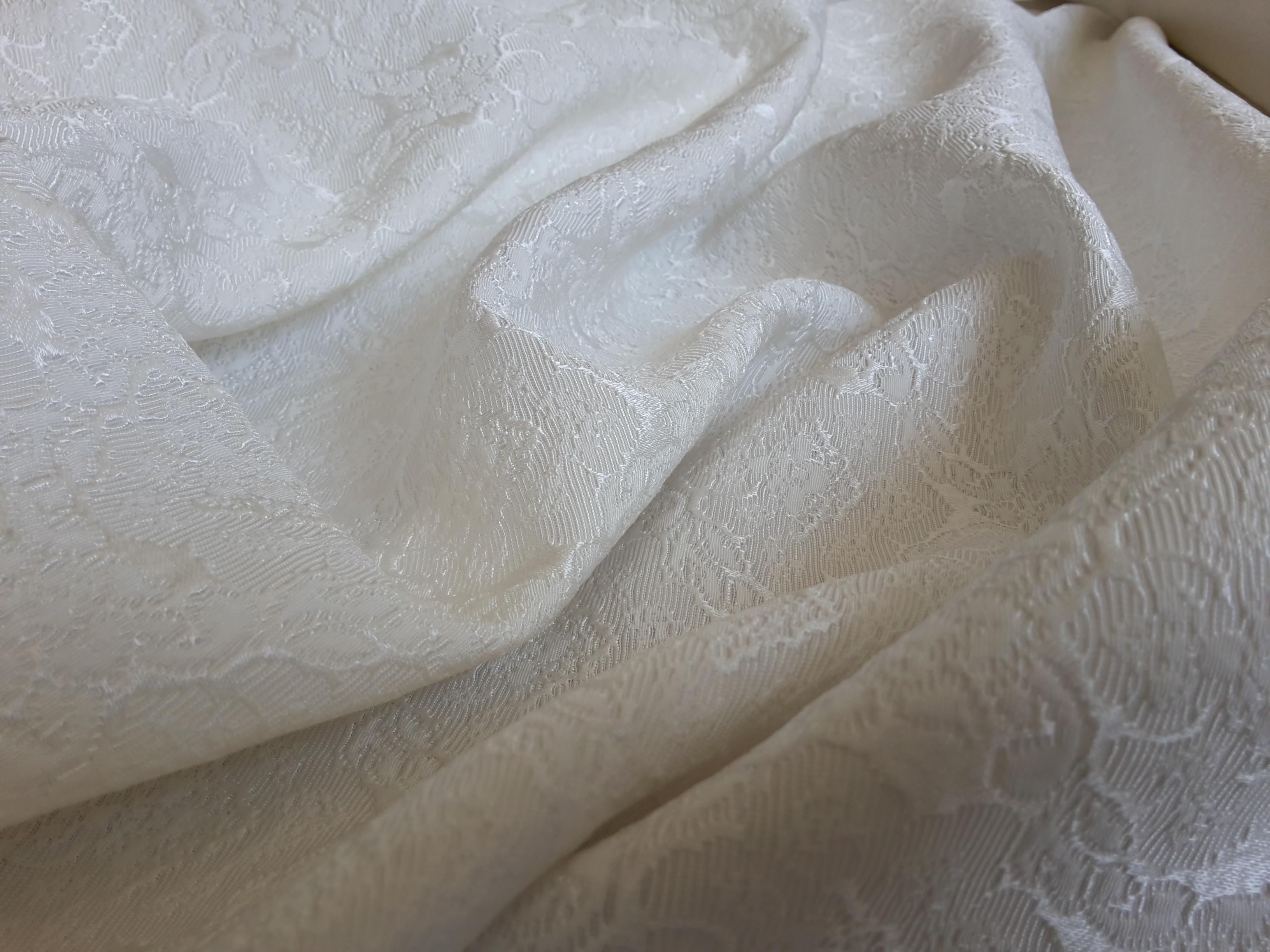 white fancy jacquard