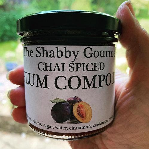 Chai Spiced Plum Compote