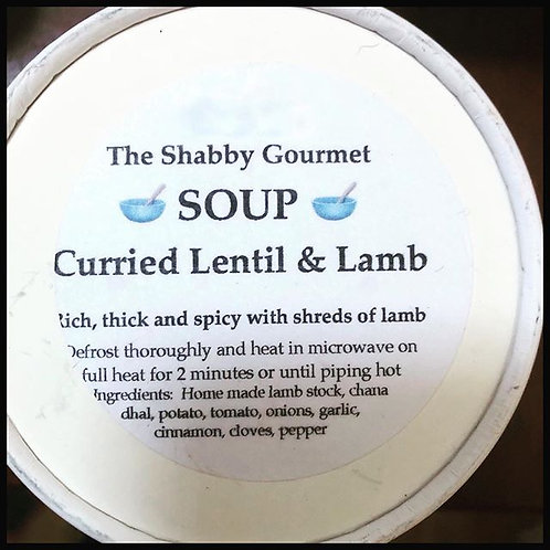 Curried Lentil & Lamb Soup