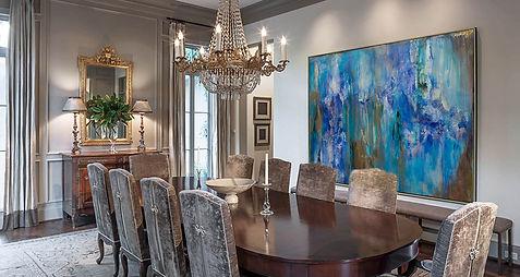 Contemporary-art-in-an-elegant-dining-ro