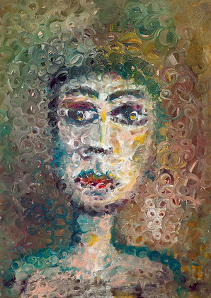 Portrait of strange woman