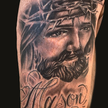Jesus and Freehand Script