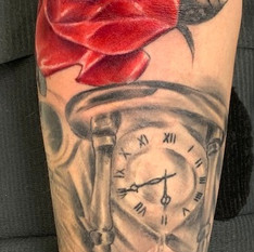 Rose and Hour Glass