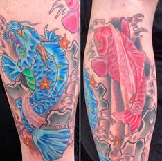 Dragon Koi Leg Sleeve
