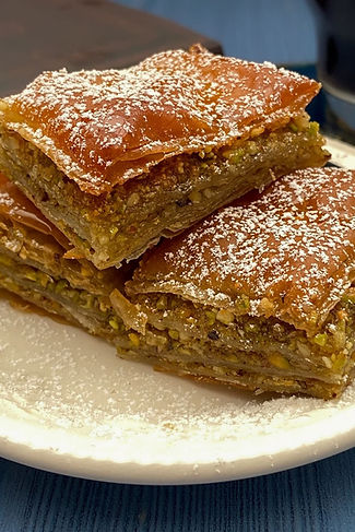 Baklava with pistachios and lemon