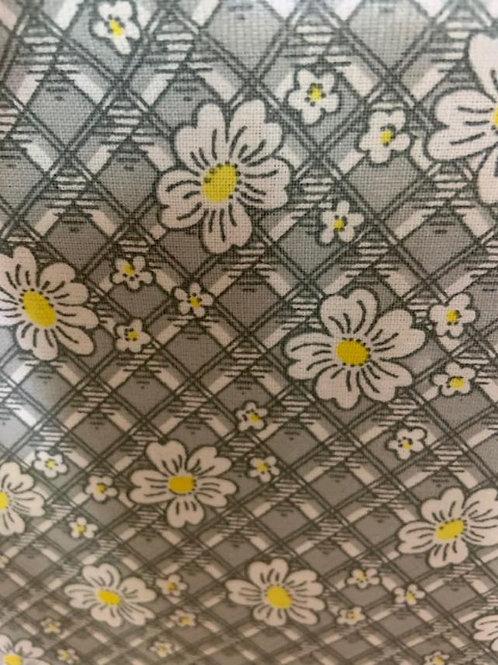 Gray Plaid Floral