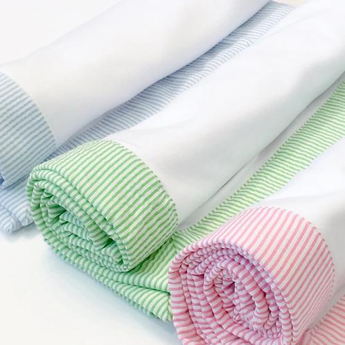 Blankets With Seersucker Trim