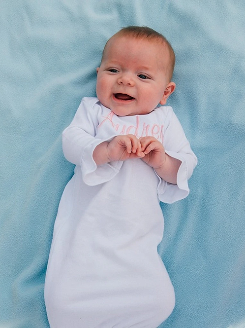 Baby Gown With Ruffle