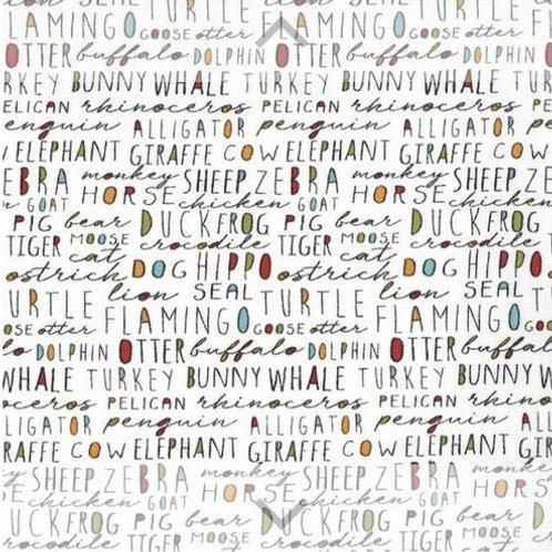 Animal Crackers Vanilla Words Light Flannel