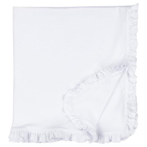 Baby Blanket With Ruffle