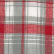 Madras Plaid Red and Gray