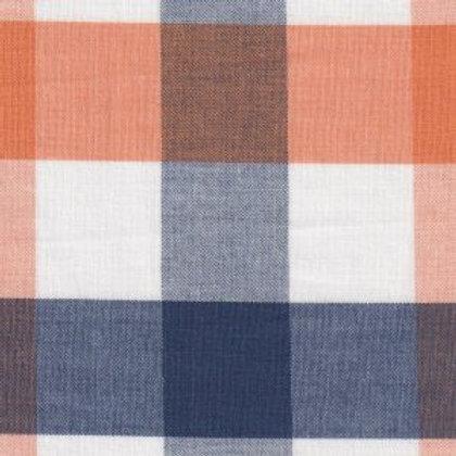 Orange, Navy, And White Check