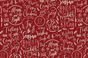 Christmas Traditions Words Red