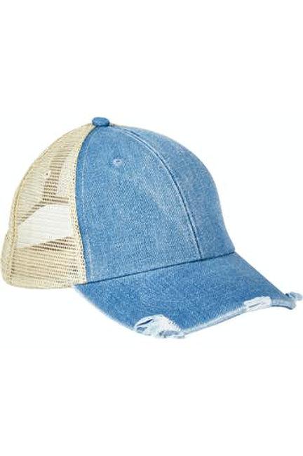 Monogrammed Distressed Trucker Hat