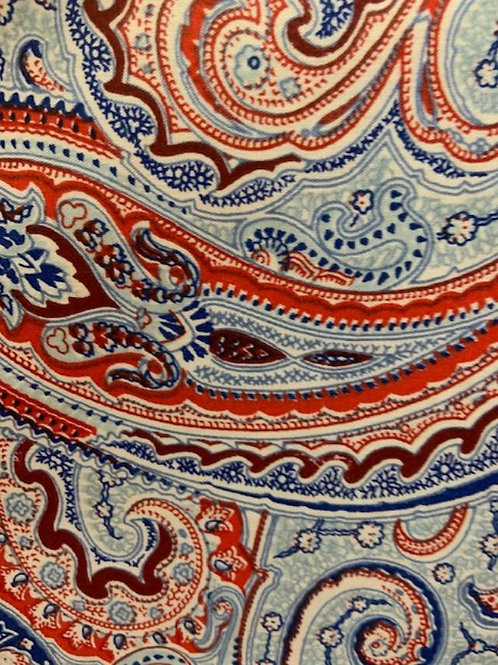 Red White and Blue Paisley