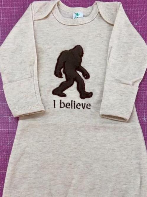 Bigfoot Baby Gown