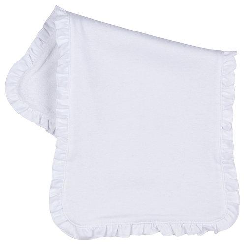 Burp Cloth With Ruffle
