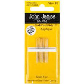 John James Applique Needles Size 10