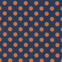 Orange Dots With Navy Lined Up