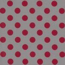 Red and Gray Polka Dot