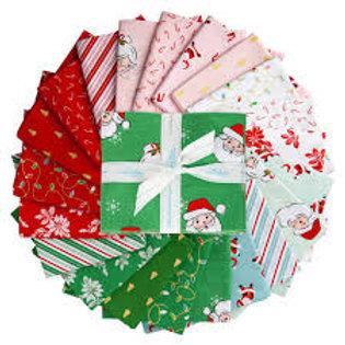Santa Clause Lane Fat Quarter Bundle