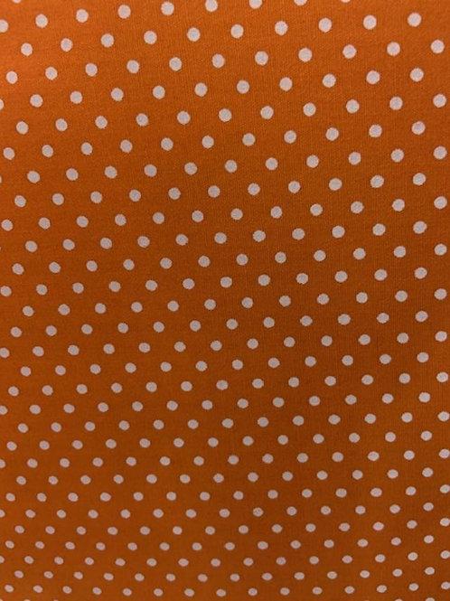 Small White Dots on Orange