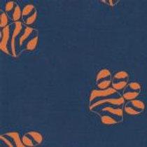 Orange Paws On Navy