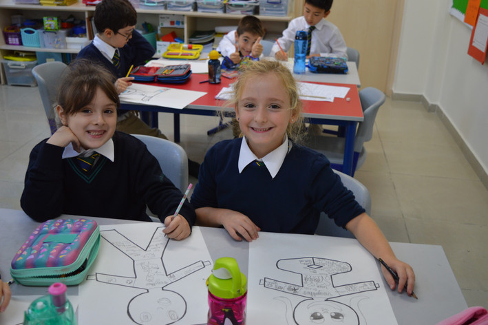 Primary Students in Art Class